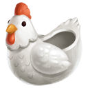 Porcelain Hen Bowl