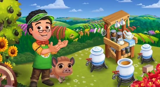Farmville 2 Tea Brewing Bar