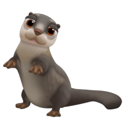 Baby Smooth Coated Otter