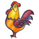 Stained Glass Rooster